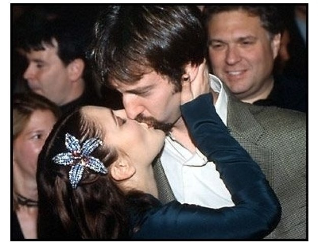 Tom Green and Drew Barrymore at the Charlie's Angels premiere