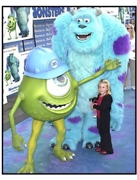Mike, Sully and Mary Gibbs at the Monsters Inc premiere