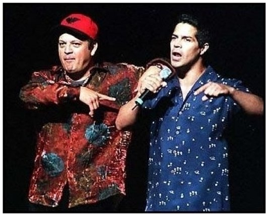 Paul Rodriguez and Esai Morales at the 2000 Democratic Hispanic Talent Showcase