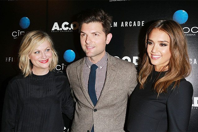 Amy Poehler, Adam Scott, Jessica Alba