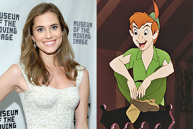 Allison Williams and Peter Pan