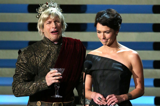 Lena Headey and Andy Samberg